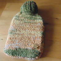 Chunky  Medium Hot water Bottle Cosy Cover