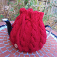 Cable Red  Wool Tea Cosy