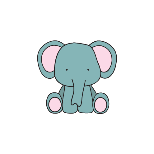 Animal Greeting Card - Georgio Elephant