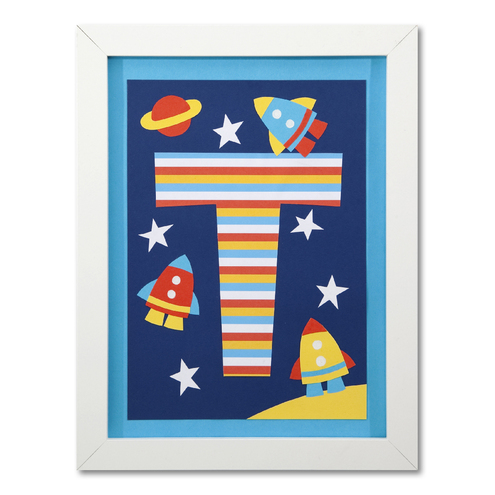 Boys Personalised Space Rocket Print
