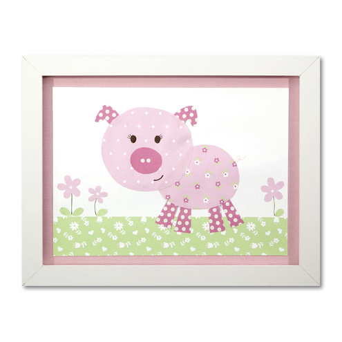 Pig Nursery Picture - Framed