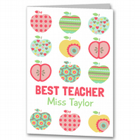 Personalised Apple Teacher Thank you Card