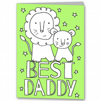 Childrens Personalised Colour your own Fathers Day Card