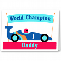 Racing Car Fathers Day Card for Dad, Daddy, Step Dad or Grandad