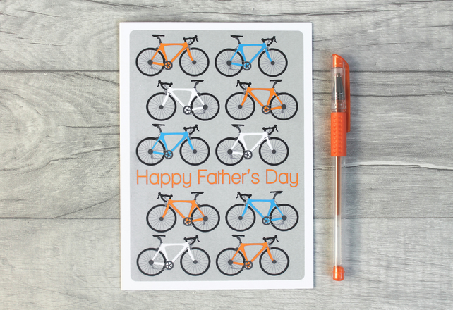 Personalised Cycling Fathers Day Card, Road Bike, Bicycle Best Daddy Card