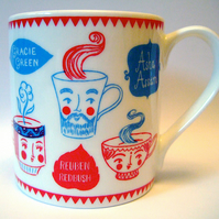 Bone China Personaliteas Design Mug for ToDryFor by Moira Millman