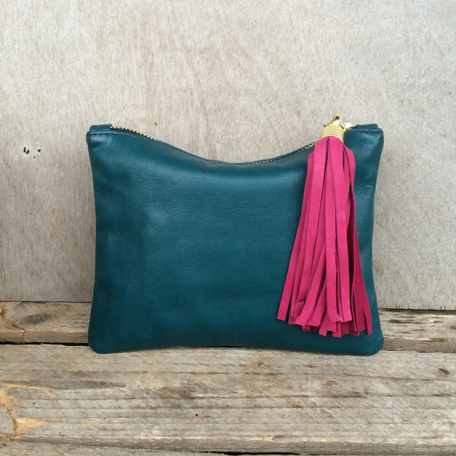 Betsy Mini - Teal Leather