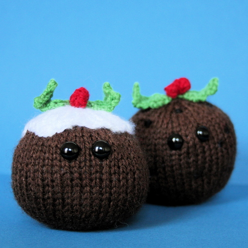 Knitting Pattern For Mini Xmas Pudding : Amigurumi Christmas Puddings (pdf knitting patt... - Folksy