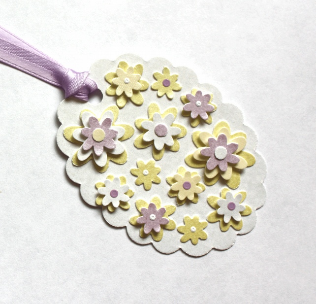 Lilac 'n' Lemon Flower Card Topper Tag