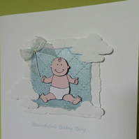 Beautiful Baby Boy A5 Card