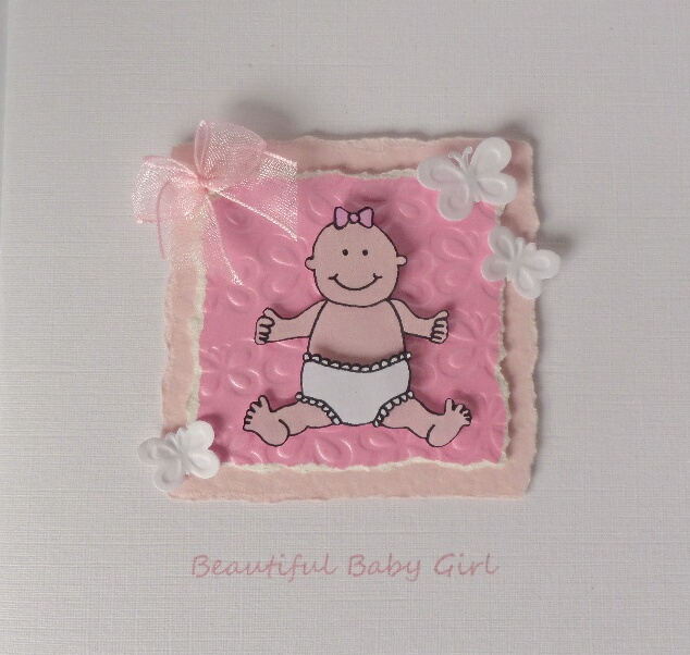 Beautiful Baby Girl A5 Card