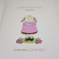 Mother's Day Mummy card from your Little Girl
