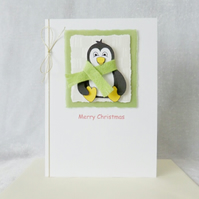 Cute Christmas Penguin Card