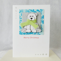 Cute Christmas Polar Bear Card
