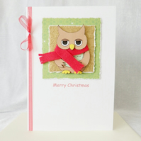 Cute Christmas Owl Card