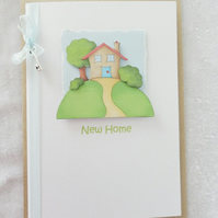 New Home A6 Card with key
