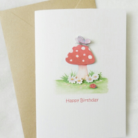 Happy Birthday Toadstool Card