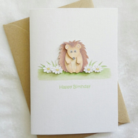 Happy Birthday Card - Little Hedgehog