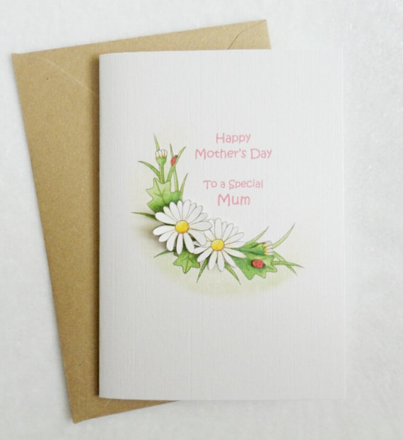Mother's Day Daisy Card - Mum
