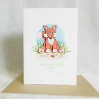 Mr Fox Happy Father's Day Daddy Card