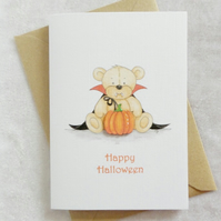 Happy Halloween Cute Bear Card