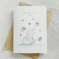 Personalised Christmas Snowflake 'Ellie' Card