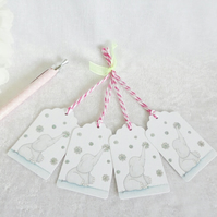 Christmas Snowflake Ellie Gift Tags - set of 4 tags
