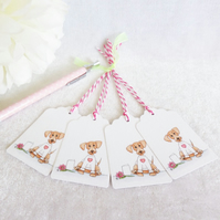 'Dash' the Dachshund Dog Gift Tags - set of 4 tags