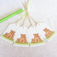 Daddy Bear Gift Tags - set of 4 tags