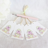 New Baby Dragon Gift Tags - set of 4 tags