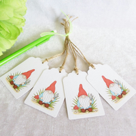 Gardening 'Norm' the Garden Gnome Gift Tags - set of 4 tags