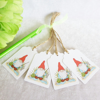 Fishing 'Norm' the Garden Gnome Gift Tags - set of 4 tags