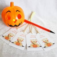 Halloween Dracula Bear Gift Tags - set of 4 tags
