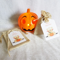 Halloween Trick or Treat Bag & Tag