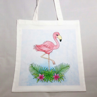 Flamingo Tote Bag - Eco Friendly Tote Bag - Shopping Bag - Craft Bag