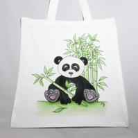 Panda Tote Bag - Eco Friendly Tote Bag - Shopping Bag - Craft Bag