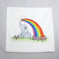 Rainbow Ellie Cushion Cover - Soft Cushion Cover - Rainbow Ellie Cushion