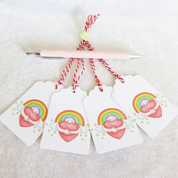 Rainbow Hug Gift Tags - set of 4 tags