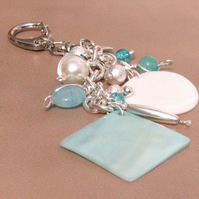 RESERVED Vanilla Ice Bag Charm or Keyring