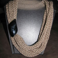 Hand Knitted Necklace