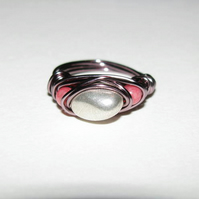 Sterling Silver Nugget Wire Wrapped Ring