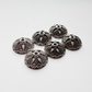 6x large Tibetan Silver Bead Caps (Antique Silver)- 009A6