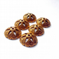 6x large Tibetan Bead Caps ( Antique Gold)- 009A6