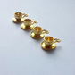 4x Gold Plated Tibetan Silver Cup&Saucer charm- 008C2
