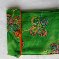 Mobile Phone  - Fone Cover in embroidered tye-dye effect fabric