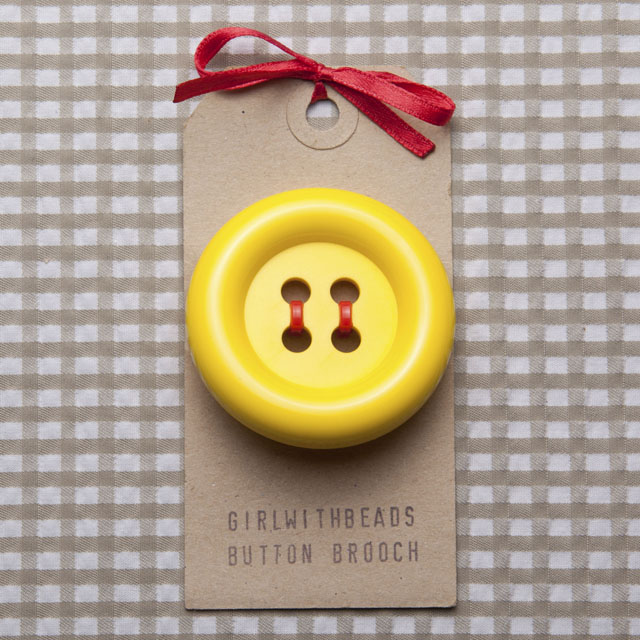 Yellow Button Brooch