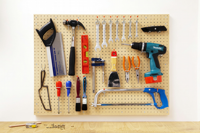 Pegboard - unpainted - essential storage organiser - fathers day gift