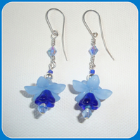 Denim Bluebell Earrings