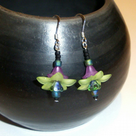 Dragon Flower Drop Earrings