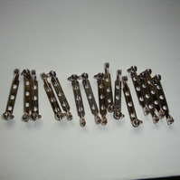 Brooch back pins 3cm long x 15